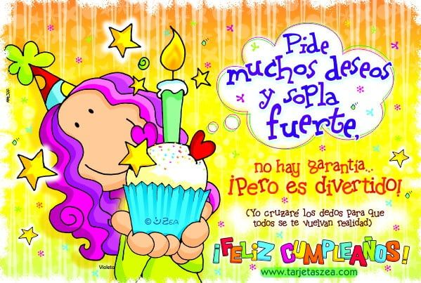 tarjeta de cumpleaños coloreada