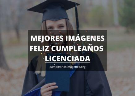 Felicitaciones de cumpleaños para una licenciada