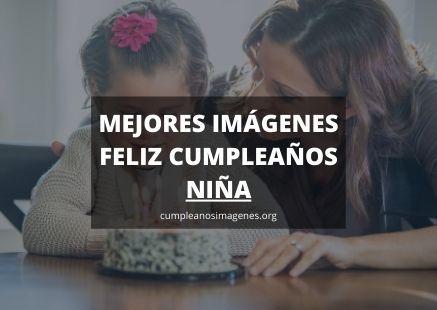 Felicitaciones de cumpleaños para una niña