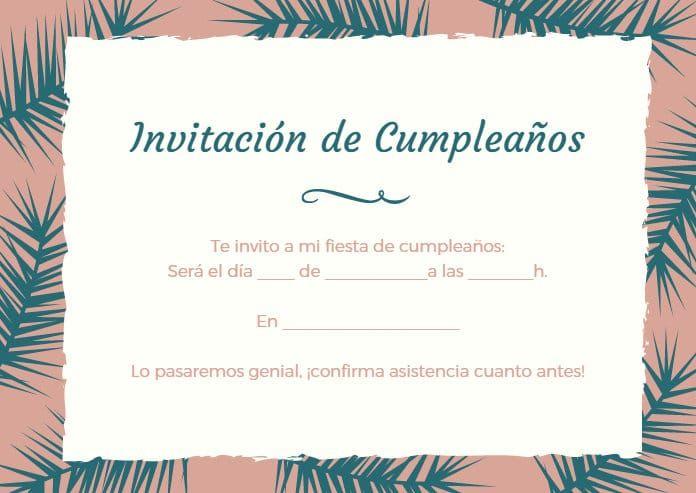 Tarjetas de invitación de cumpleaños