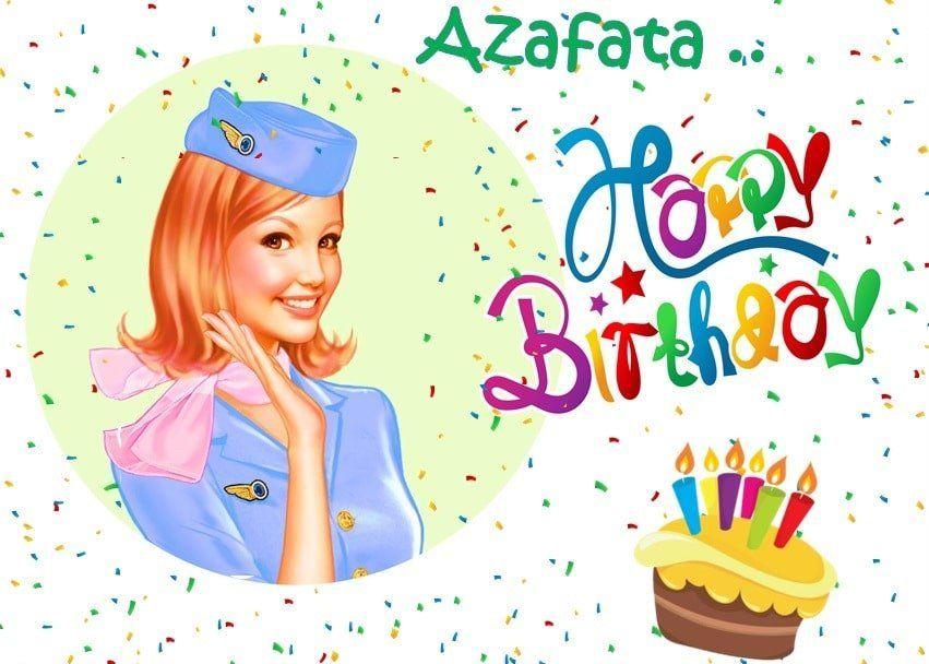 Imágenes de cumpleaños para una azafata