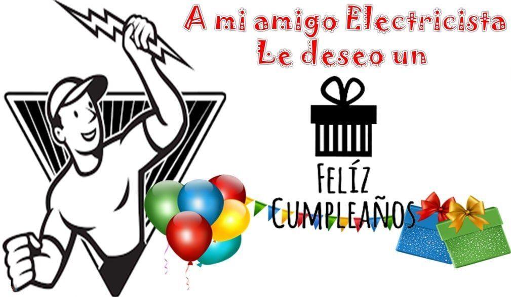 Feliz cumpleaños electricista