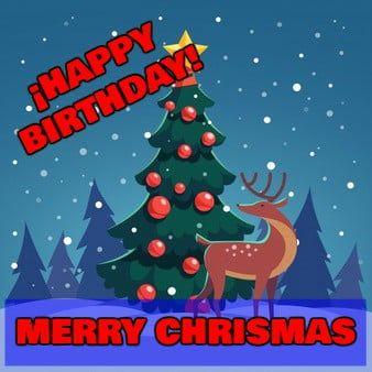 Feliz cumpleaños de Navidad