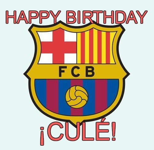 Feliz cumpleaños del Barcelona