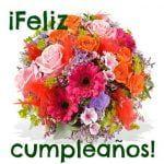 Feliz cumpleaños de flores