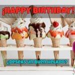 Mejores imágenes de cumpleaños para los amantes de los helados