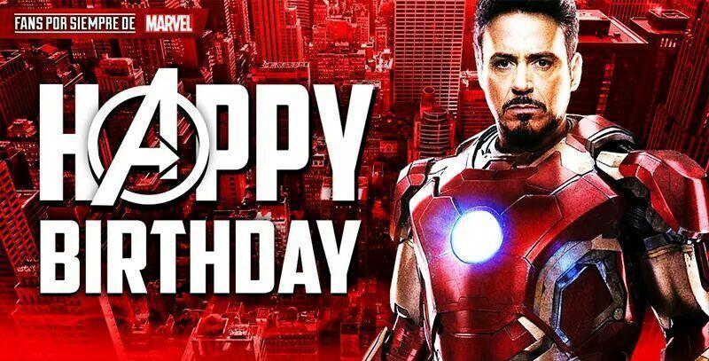 Feliz cumpleaños de Iron Man
