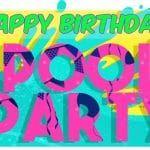 Feliz cumpleaños de Pool Party