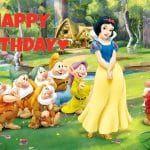 Feliz cumpleaños de Blancanieves