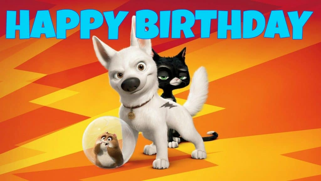Feliz cumpleaños de Bolt