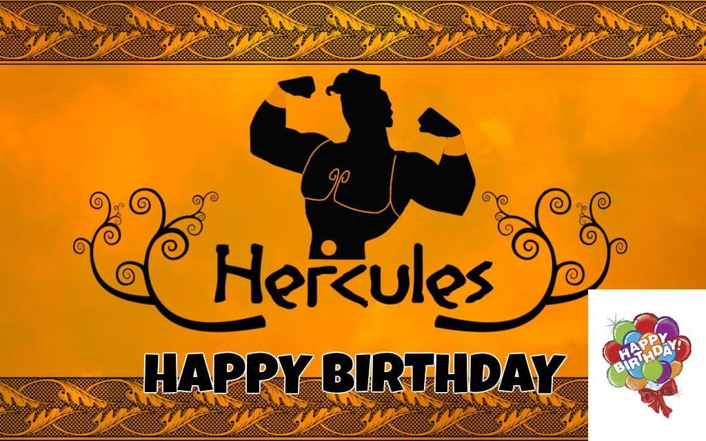 Feliz cumpleaños de Hércules