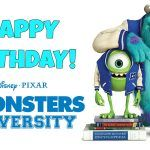 Feliz cumpleaños de Monsters University
