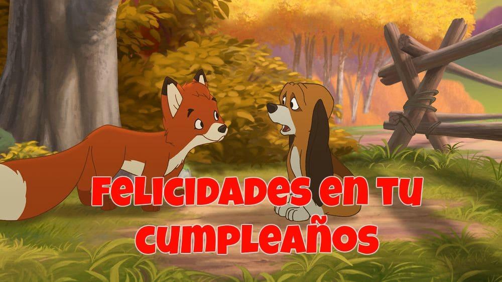 Imagenes De Cumpleanos Del Zorro Y El Sabueso Imagenes Y Tarjetas