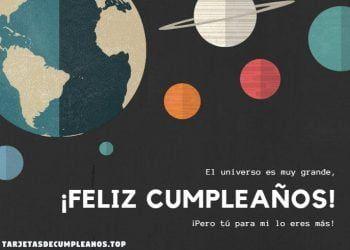 felicitacion planetas cumpleanos