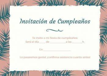 invitacion de cumpleanos