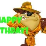 Feliz cumpleaños del Demonio de Tasmania