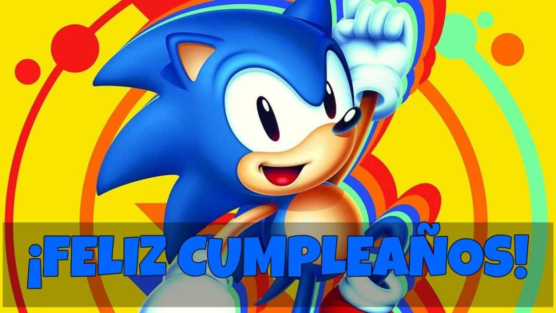 Feliz cumpleaños de Sonic