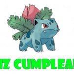 Feliz cumpleaños de Ivysaur