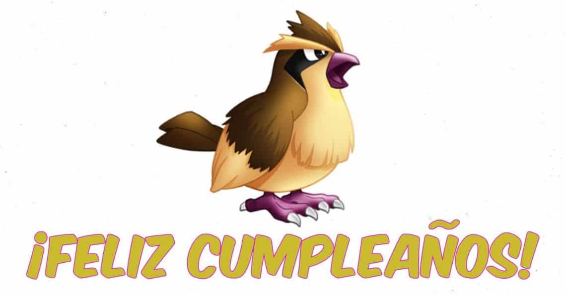 Feliz cumpleaños de Pidgey