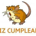 Feliz cumpleaños de Raticate