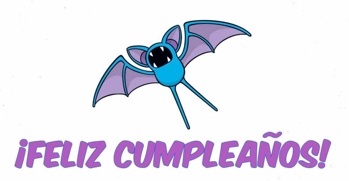 Feliz cumpleaños de Zubat de Pokémon