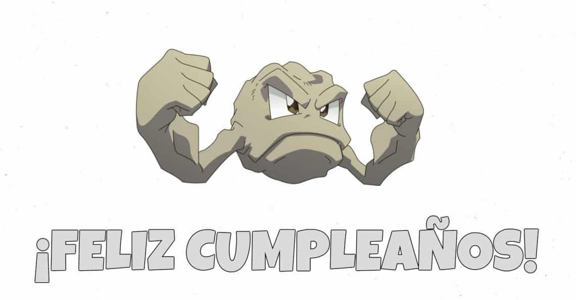 Feliz cumpleaños de Geodude