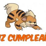 Feliz cumpleaños de Growlithe